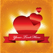 Vector love gift tag — Image vectorielle