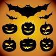 Royalty-Free Stock Vector Image: Halloween design elements collection
