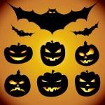 Halloween design elements collection — Stock Vector