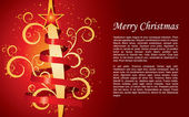 Christmas background with space for text — Stok Vektör