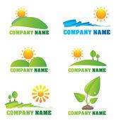 Collectie van natuur logo's en pictogrammen — Stockvector