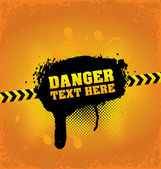 Danger banner — Stock Vector