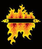 Fire frame — Stock Vector