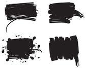 Set of grunge brushes — Stock Vector