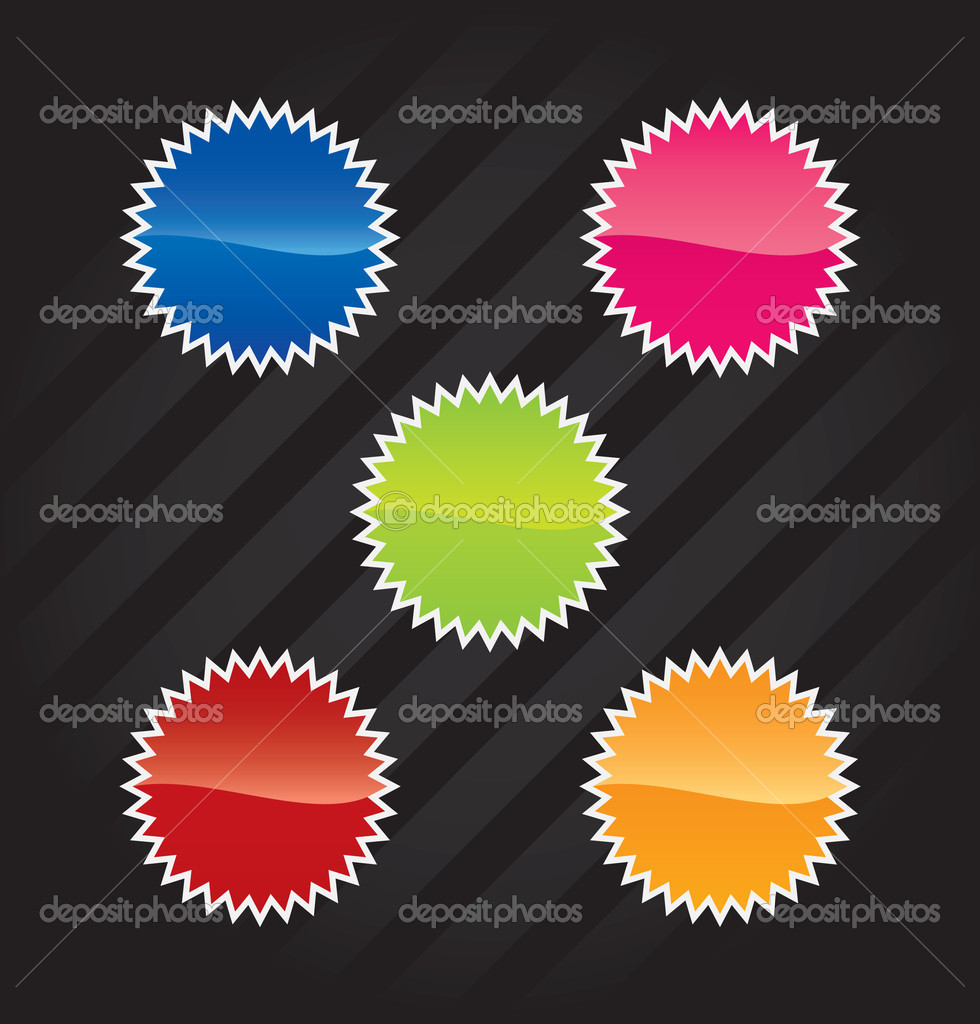 Vector stickers for web design    Stock Vector #1824172