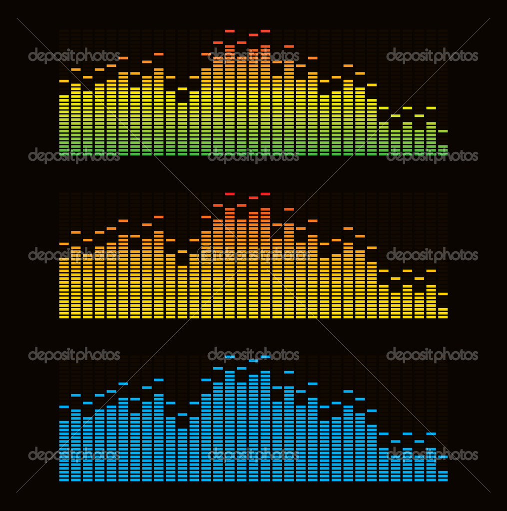 Vector illustration of digital equalizer    Stock Vector #1826067