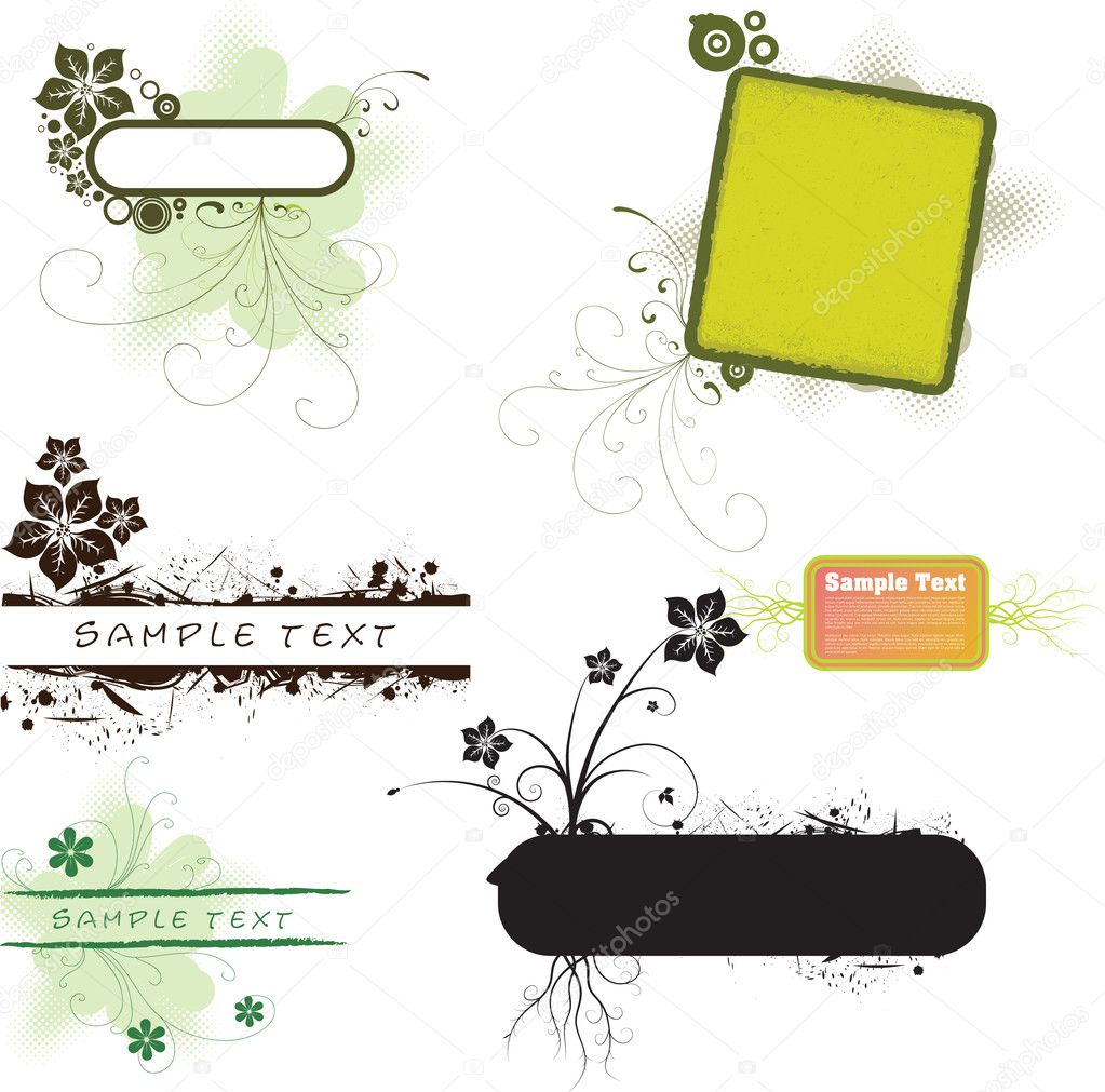 Collection of vector floral banners   — Stock Vector #1826289