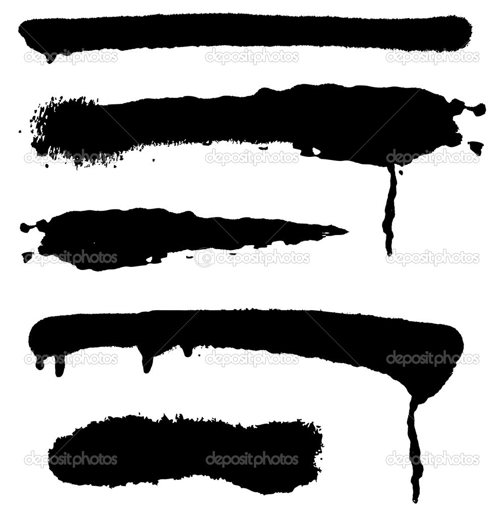 Set of grunge brushes. Vector elements for design.  — Stock Vector #1826791
