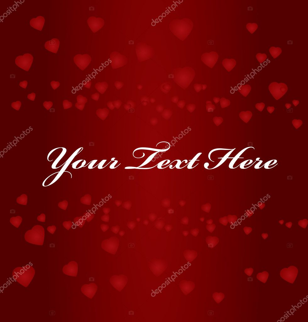 Red background with hearts and space for text  Stock Vector #1827332