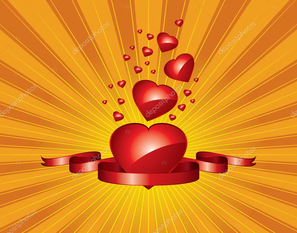 Vector love gift tag  — Image vectorielle #1827447