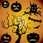 Halloween collection — Stock Vector