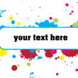 Color paint splashes banner — Stock Vector
