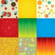Set of colorful abstract backgrounds. — Vettoriali Stock