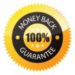 "Badge ""100% Money Back"" — Stock Vector"
