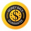 Badge Money Back Guarantee — 图库矢量图片