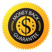 "Badge ""Money Back Guarantee"" — Stock Vector"