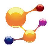 Glossy molecule — Stock Vector