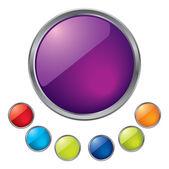 Vector shiny buttons — Stock Vector