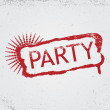 Stock Vector: Party grunge tag