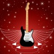 Guitar with wings — Stock Vector