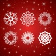 Stock Vector: Snowflakes. Easy to edit vector