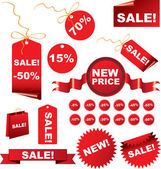 Christmas sale tags — Vettoriale Stock
