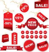 Kerstmis verkoop tags — Stockvector
