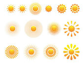 Set of sun — Stock Vector