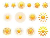 Set van zon — Stockvector