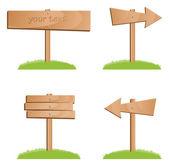 Vector houten borden — Stockvector