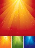 Fondos de navidad coloridos vector — Vector de stock
