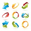 Royalty-Free Stock Vector Image: Colorful 3d vector arrows set