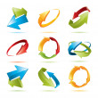 Colorful 3d vector arrows set — Stock Vector #2285843