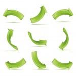 Green 3d vector arrows set — Stock Vector #2285853