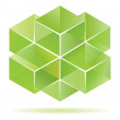 Green cube design — Stock Vector