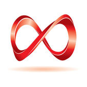 Red infinity sign — Stock Vector