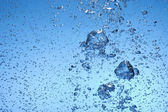 Bubble in transparent water — Stock Photo