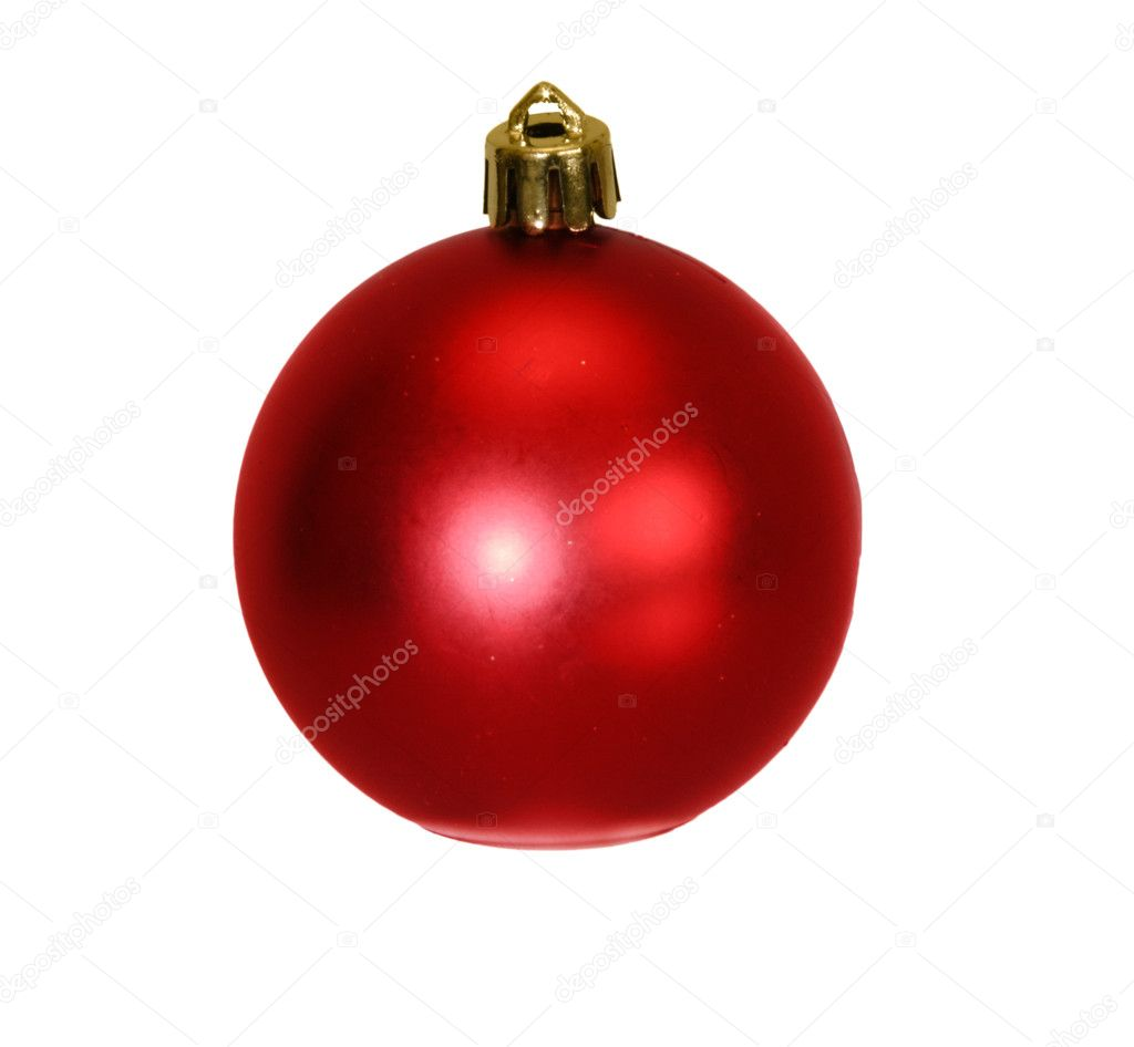 Christmas red ball isolated — Stock Photo #1499880