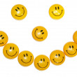 Royalty-Free Stock Photo: Smiling magnet for  paper isolated