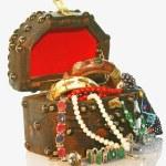 TREASURE CHEST wooden small box — Stock Photo #1500699