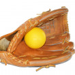 Stock Photo: Baseball glove isolated