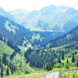Mountain landscape, Central Asia, Kazakh - Stock Photo
