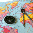 Compass and map — Stock Photo #1503030
