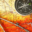 Compass and map — Stock Photo #1505819
