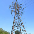 Electricity line, high voltage tower — 图库照片