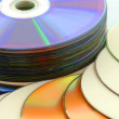 Stock Photo: Group of cd disk
