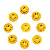 Smiling magnet for paper isolated — Stock Photo