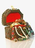 TREASURE CHEST wooden small box — Stock Photo