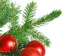 Christmas tree with red balls — Stock Photo