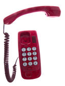 Isolated red telephone — Stock Photo